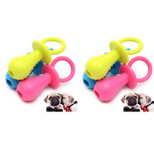 6x Rubber Pacifier for Pet Dog Cat Puppy Chew Toys with Bell Sound Inside