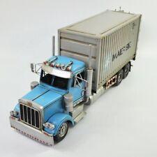 Antique Classic Container Truck Model Retro Vintage Wrought Handmade Metal Decor