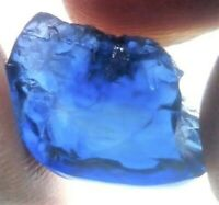 SAPPHIRE ROUGH FACET GEM GEMSTONE BLUE SRI LANKA GENUINE NATURAL UNCUT 2 CT NICE