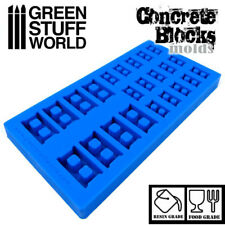 CONCRETE BRICKS Textured SILICONE MOLD - for Resins - Impression Blocks 40K