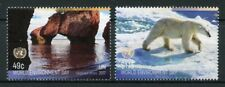 United Nations UN New York 2017 MNH World Environment Day 2v Set Bears Stamps
