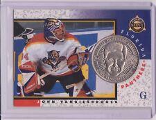 RARE 1997-98 PINNACLE MINT VANBIESBROUCK SILVER NICKEL COIN & CARD #4 ~ PANTHERS