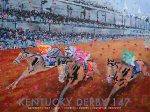 147th KENTUCKY DERBY at Churchill Downs 2021 Horse Racing OFFICIAL POSTER Print