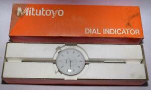 "Mitutoyo Dial Indicator #3424-10 - Used w Box - Jeweled - USA Made - .001"""