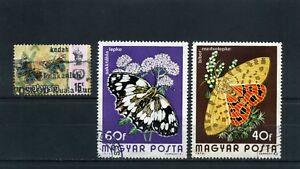 BUTTERFLIES OF HUNGARY,- MALAYSIA  60s  {3}