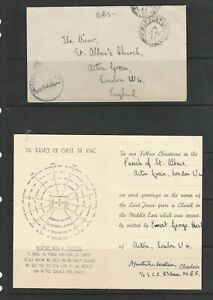 GB 1943 OAS Cover with FPO cds, Middle east Forces, Censored to UK