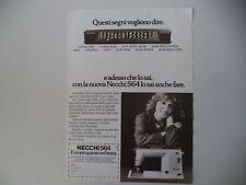 advertising Pubblicità 1979 MACCHINA PER CUCIRE NECCHI 564