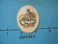 1.3 OZ WALLABY COLORED OVAL WILDLIFE OF WORLD COLLECTION SILVER RARE