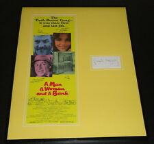 Paul Mazursky Signed Framed 16x20 Photo Poster Display A Man A Woman and a Bank