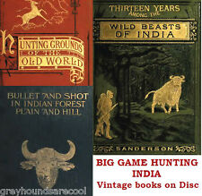 Big Game Hunting India Ceylon Burma Tibet Pigsticking Vintage Books on Data Disc