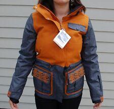 2014 NWT BILLABONG WOMENS MADEMOISELLE SNOWBOARDING JACKET S $245 J pumpkin coat
