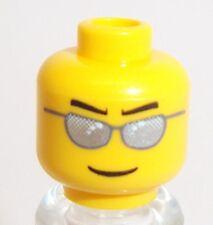 Lunettes de soleil argent lego tête x 1 jaune pour minifigure