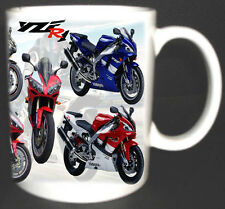 YAMAHA YZF R1 CLASSIC MOTORBIKE MUG LIMITED EDITION ALL YEAR COLOURS AVAILABLE *