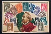 1913 Lisbon Portugal Stamp On Stamp Postcard cover To Rio Grande Brazil