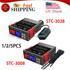 1 5pcs Stc 30083028s Dual Display Temperature And Humidity Controller 110v 220v
