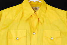 Vintage Rockmount Ranch Wear Western Pearl Snap Shirt Cowboy Yellow Mens S