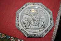 Antique Vintage Adams Ironstone Micratex Dickens Plate-Mr. Wardles-8 Sided