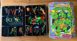 🐢Teenage Mutant Ninja Turtles Lot Of 13 Action Figures+ In Collector Case🐢