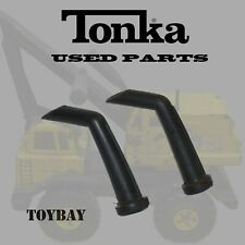Lot of 2 Vintage Mighty Tonka Angled Dual Exhaust Smoke Stacks for Backhoe Other
