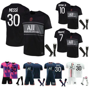 21/22 All Kids Football Kits Boys Youth Adult Soccer Shirt Training Suits UK