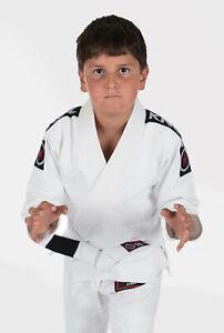 Kingz Basic kids M4 BJJ White Brazilian Jiu-Jitsu Gi Kimono