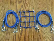 Blue / Roof Cargo Net + 2 Tow Ropes SCX10.TrailFinder