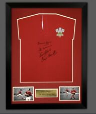 WELSH RUGBY SHIRT FRAMED & SIGNED BY WILLIAMS BENNETT EDWARDS & JOHN. £125 Coa