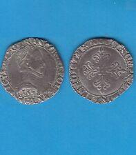 Gertbrolen Henri III (1574-1589)  Franc en argent 1578 Bayonne