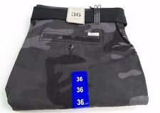 TRINITY COLLECTIVE MENS BELTED CARGO SHORTS SIZE: 36 Black Camo