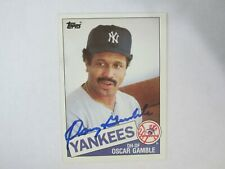 1985 Topps # 724 OSCAR GAMBLE autograph / signed card New York Yankees / Indians