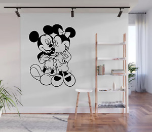 Mickey And Minnie Mouse Cartoon Styled Wall Art Decal Sticker CA3