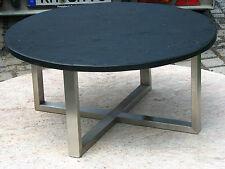 Couchtisch Loungetisch Schiefertisch Beistelltisch mit Schieferplatte schwarz
