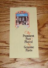 1922 Ford Parts Sales Service Brochure Flyer 22 Model T