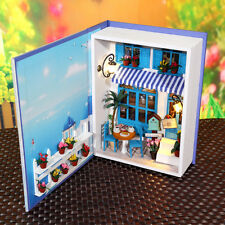 DIY Mini Book Doll House with Furniture, w/ Lights - Summer Vacation Dairy