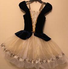Revolution Navy Blue and Champagne Ballerina Tutu Dance Costume Child X-Large