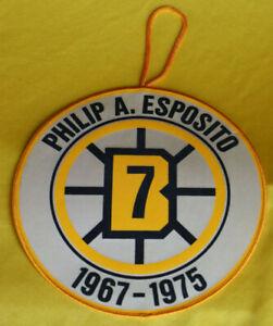 """Phil Esposito #7 Boston Bruins 1966-76 Original Licensed Retirement Banner 8"""""""
