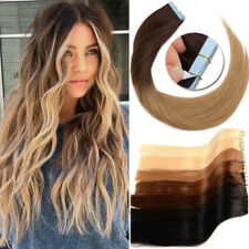 CLEARANCE Real Tape In 40PCS 100G Remy Human Hair Extensions Full Head THICK 8A