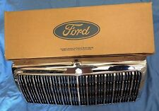 NOS NEW Original Factory 93-94 Town Car Chrome Grille Insert Emblem & Nameplate