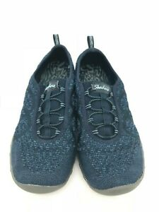 Sketchers Women's Shoe: Size 10 | Navy | Relaxed Fit Knit Slip On (SH103)