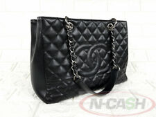 BIDSALE! AUTHENTIC $2900 CHANEL Quilted Caviar Leather Grand GST Shopper Bag