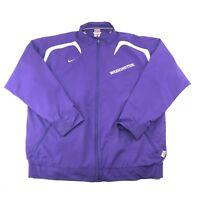 Nike Team Fit Storm Washinton Huskies Mens Purple Gold Windbreaker Jacket XL