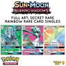 Pokemon Burning Shadows Full Art, Ultra Rare, Secret Rare Card Singles Selection