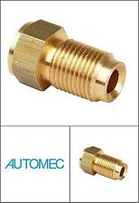 "AUTOMEC Brake Pipe Brass Union Fittings Male 7/16"" UNF x 24tpi for 3/16 Pipe"