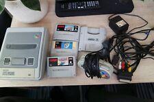 SNES Konsole, 3 Spiele, GameBoy Modul, 2 Controller, Kabel, sehr gut erhalten
