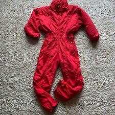 Bogner Womens Ski Suit size 12 Red W/ Embroidery One Piece Vintage Snowsuit EUC