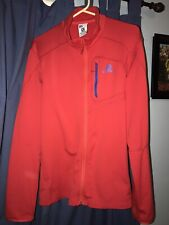 Salomon Running Jacket Advanced Skin Warm Mens Full Zip Size XL Red