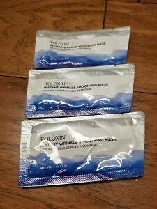3 X Roloxin Lift Instant Skin Smoothing Treatment, .07 oz/2.0 g each samples New