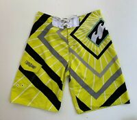 BILLABONG men's yellow board surf beach knee length shorts size 32