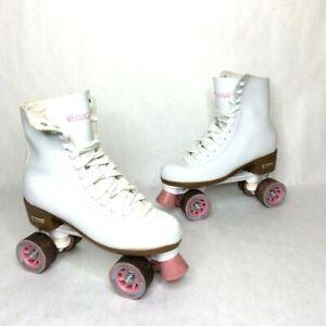 Chicago Ladies Classic Quad Roller Skates Ladies Size 9  EUR 40 White/Pink 8601S
