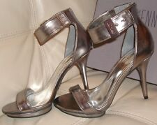 NEW WB JENNIFER LOPEZ HIGH HEEL PUMP ANKLE STRAPS JLCINDI PEWTER PLATFORM SZ 7
